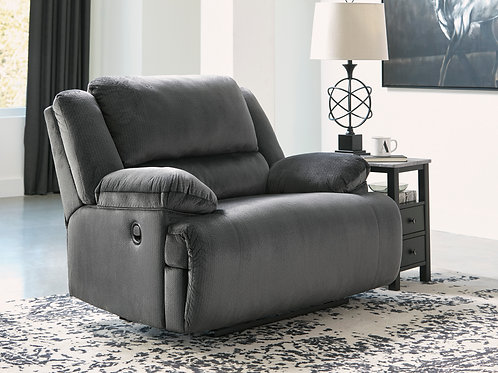 Clonmel Oversized Charcoal Recliner