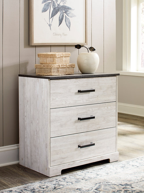 Shawburn Two-Tone Three Drawer Chest