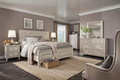 Raelynn Weathered White Queen Bedroom Set