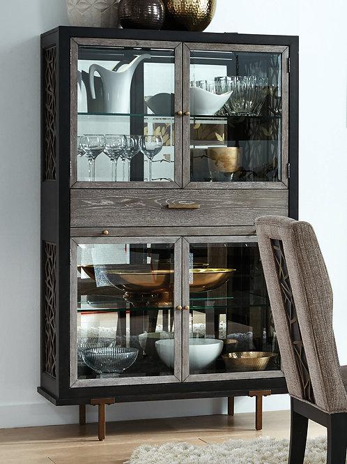 Ryker Nocturn Black & Gray Display Cabinet