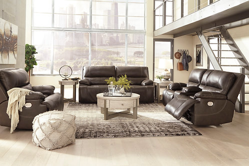 Ricmen Walnut Leather Power Reclining Sofa OR Loveseat