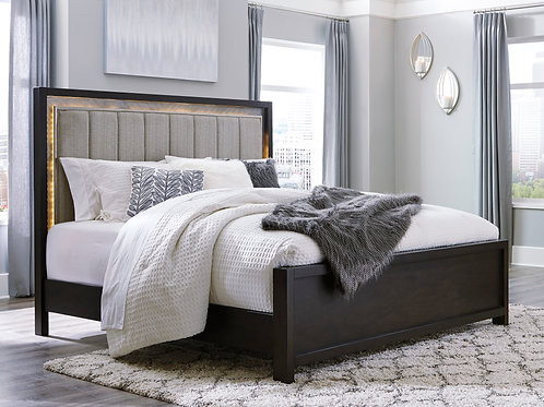 Maretto Two-Tone Queen LED Bed