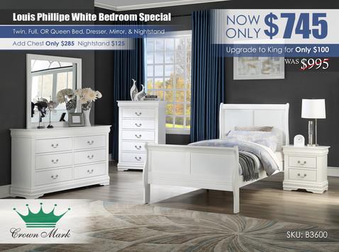 Louis Philip Youth White Bedroom Set_B3600.jpg