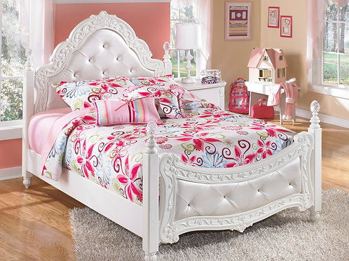 Exquisite Upholstered Poster Bed