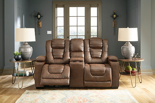 Owner's Box Thyme Power Reclining Loveseat