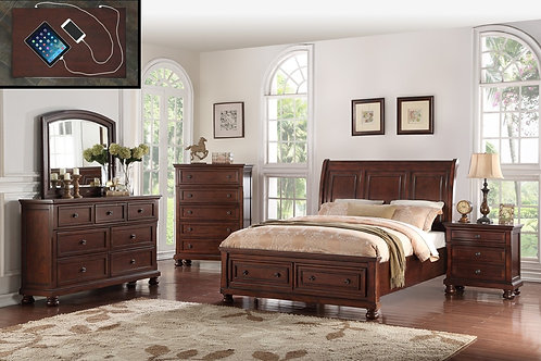 Sophia Cherry Queen Bedroom Collection