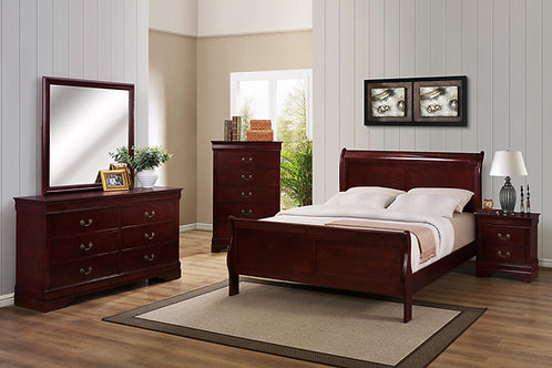Cherry Sleigh Bedroom Set
