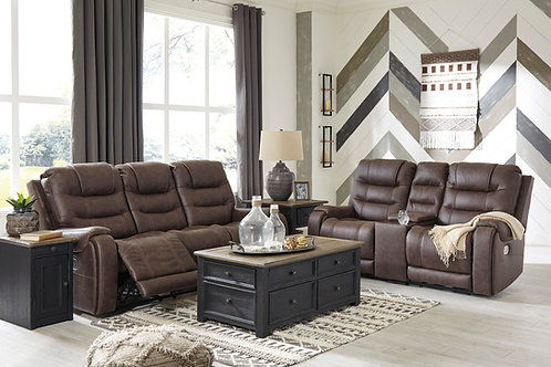 Yalcot Walnut Power Reclining Sofa OR Loveseat