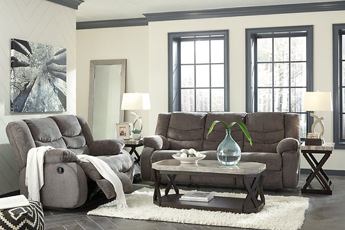 Tulen Graphite Reclining Sofa & Loveseat