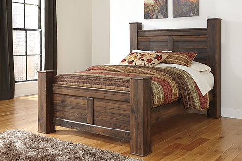 Quinden Brown Poster Bed