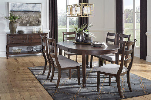 Adinton Dining Table and 6 Side Chairs