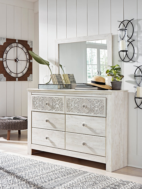 Paxberry White Washed Dresser