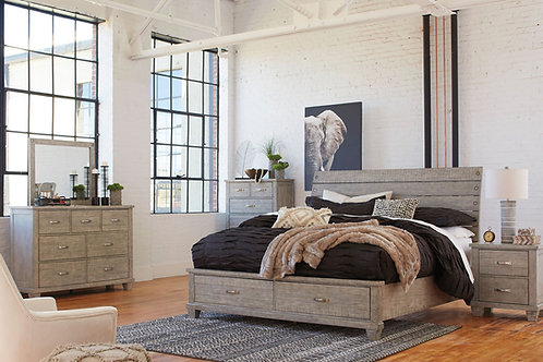 Naydell Rustic Gray Bedroom Collection