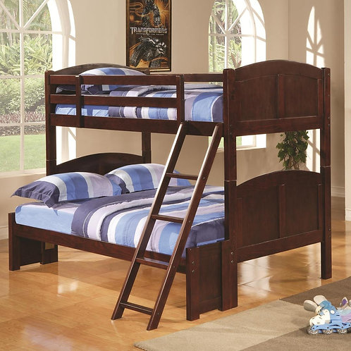 Parker Cappuccino Twin/Full Bunk Bed