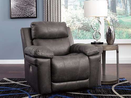 Erlangen Midnight Power Recliner