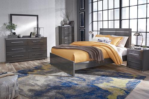 Steelson Gray Full or Queen Bedroom Set
