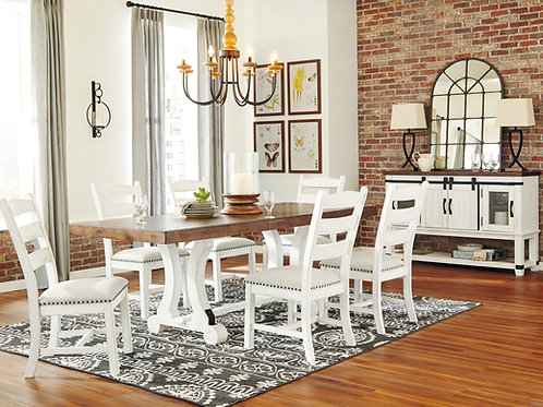 Valebeck Dining Table & 6 Chairs