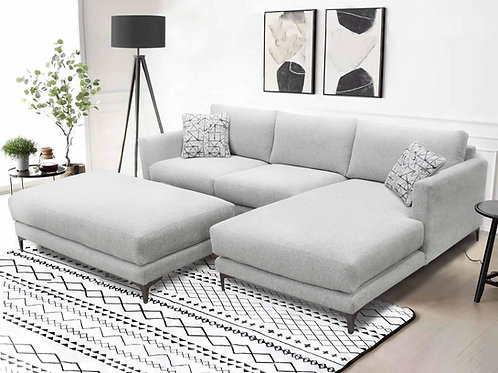 Alissa Graphite Sectional w/RSF Chaise