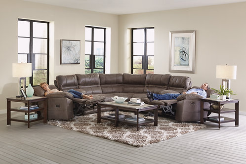 Braxton Charcoal 7-Piece Sectional with 2 Consoles