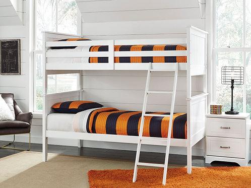 Lulu White Twin/Twin Bunk Bed