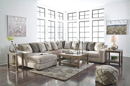 Ardsley Pewter 4-Piece Sectional