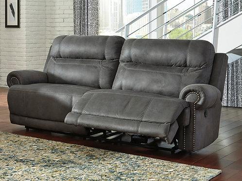 Austere Slate Reclining Sofa