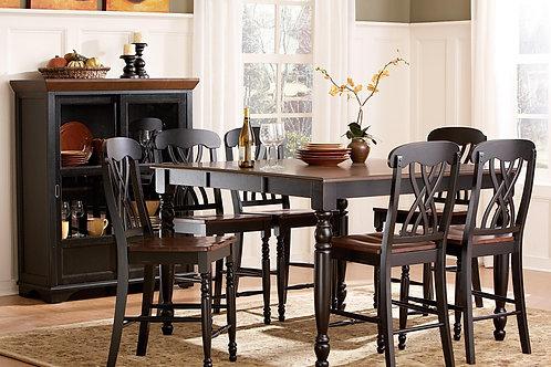 Ohana Black Pub Table & 4 Chairs