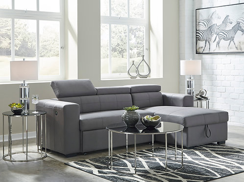 Salado Gray Pop-Up Bed Sofa Chaise