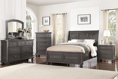 Stella Translucent Slate Queen Bedroom Set