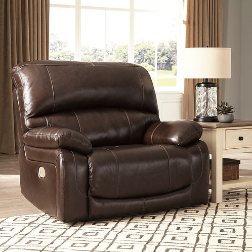 Hallstrung Wide-Seat Top Grain Leather Power Recliner