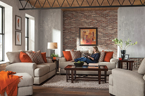 Ava Cashew Sofa & Loveseat Set