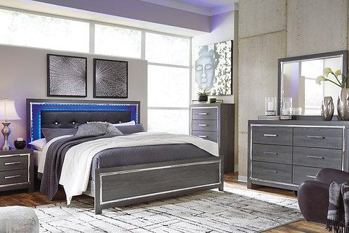 Ladonna Gray Queen LED Bedroom Set