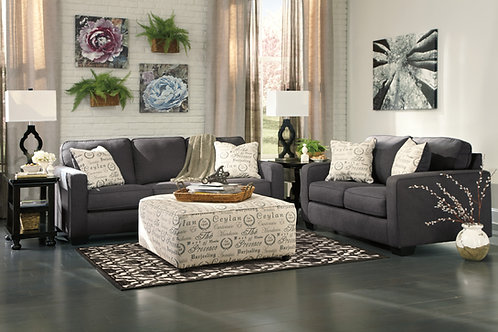 Alenya Charcoal Sofa & Loveseat Set