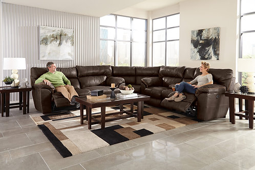 Milan Chocolate Reclining Sectional