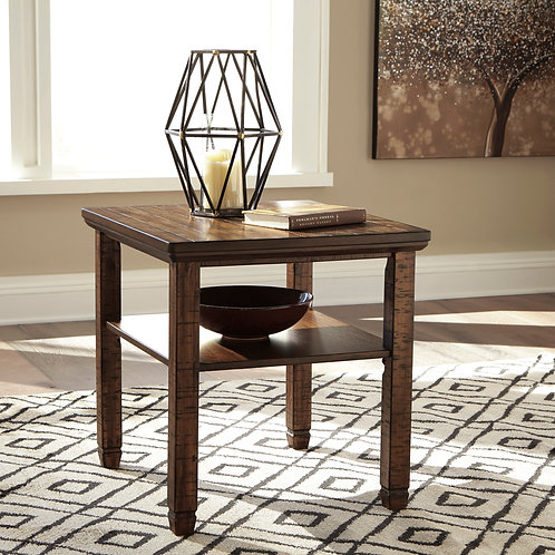 Royard Brown End Table