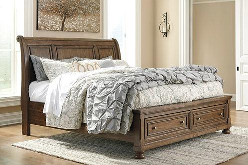 Flynnter Queen Sleigh Storage Bed