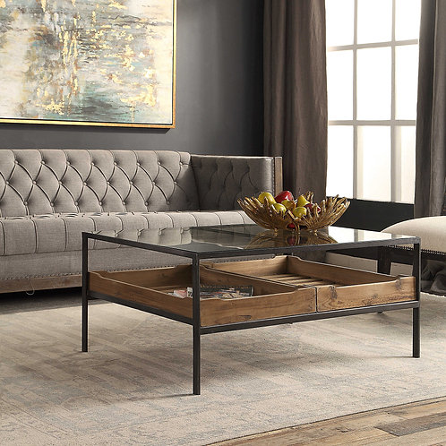 Silas Glass Coffee Table