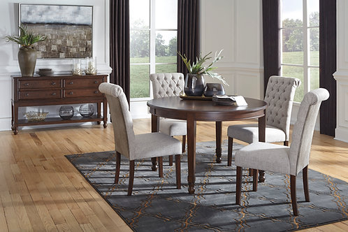 Adinton Dining Table and 4 Upholstered Chairs