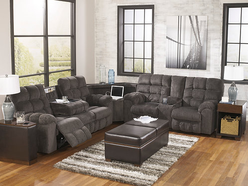 Acieona Slate 3-Piece Reclining Sectional