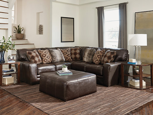 Denali Chocolate 2-PC Leather Sectional