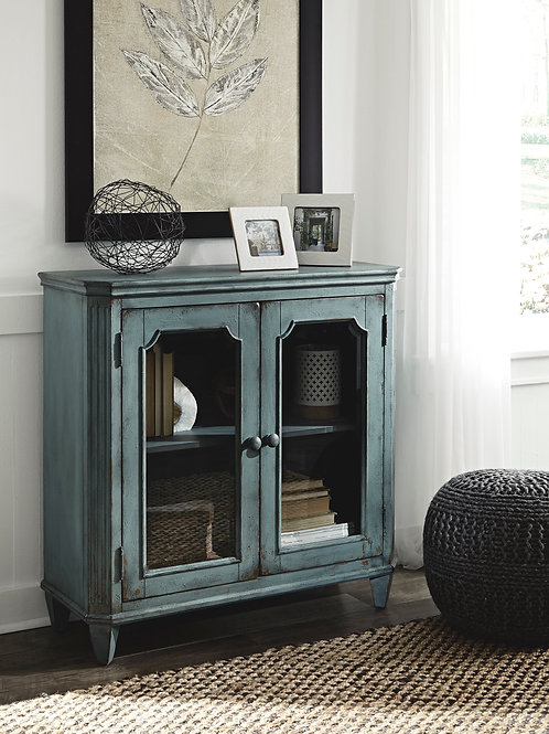 Mirimyn Antique Blue Accent Cabinet