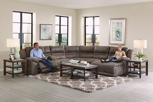 Braxton Charcoal 6-PC Sectional with Console