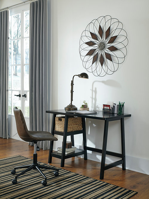 Mirimyn Black Small Home Office Desk