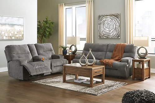 Coombs Charcoal Reclining Sofa OR Loveseat