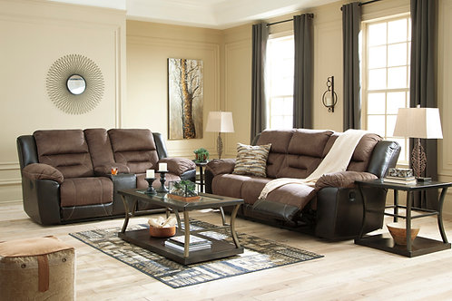 Earhart Walnut Reclining Sofa & Loveseat