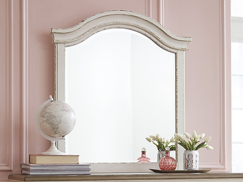 Realyn Antique White Youth Mirror