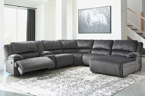 Clonmel Charcoal 6-Piece Sectional