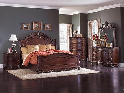 Deryn Park Sleigh Panel Bedroom Set