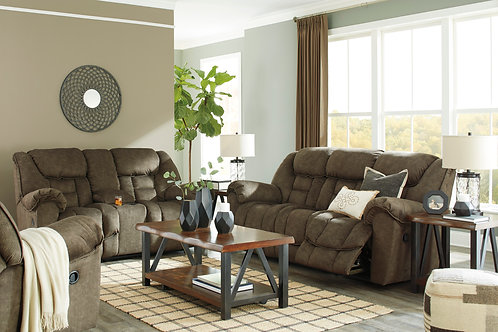 Capehorn Earth Reclining Sofa & Loveseat