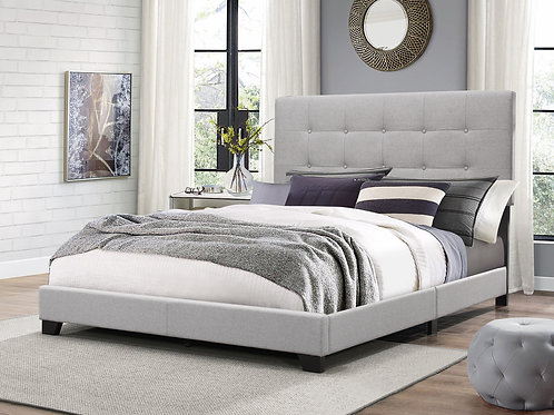 Florence Gray Upholstered Bed